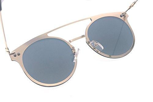 LA008x mujer Gafas lente y Aviator espejo con sol para UV400 de con hombre plana fqxR1SfUn