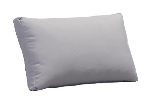 Outdoor Patio Back Cushion, Light Gray, Fabric ()