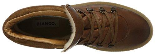 BIANCO Warme Plattform Boots, Anfibi Donna Marrone (Light Brown)