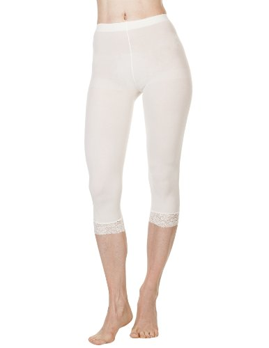 Foot Traffic - Microfiber Capri with Lace (Ivory)