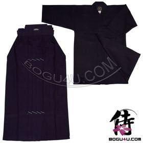 Hakama Standard blau aus Tetron für Kendo Iaido Aikido
