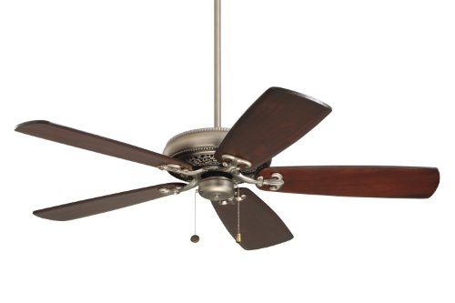 - Emerson CF4501AP Protruding Mount, 5 Antique Pewter Blades Ceiling fan with 100 watts light, Antique Pewter