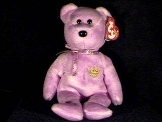 (TY2003 Yours Truly Hallmark Gold Crown Exclusive Ty Beanie Baby Bear)