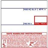 CAS LST-8040 Printing Scale Label, 58 x 60 mm, UPC/Safe Handling - CASE of 12 Rolls