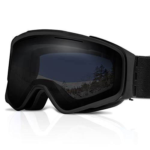 - XR MAX 8 Ski Goggles for Men & Women - Anti-Fog Snow Goggles with Magnetic & Replaceable Double UV Protection Lens, Air Ventilation & Adjustable Headband for Skiing & Snowboarding