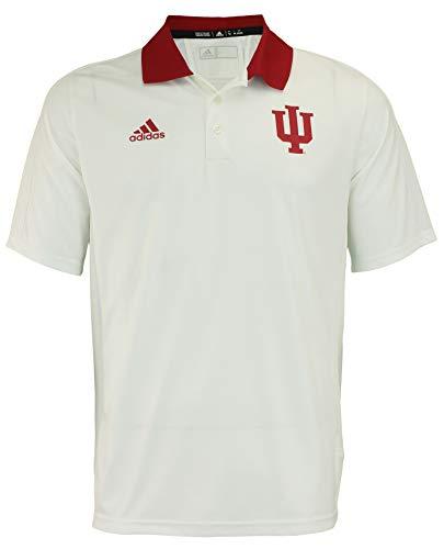 - adidas NCAA Men's Team Color Coaches Polo, Indiana Hoosiers-White Medium