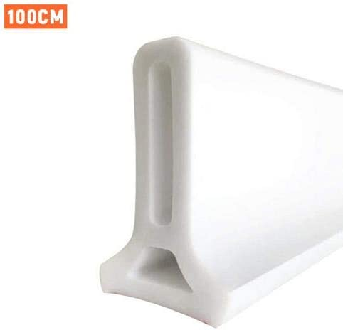 Rubber Collapsible Shower,Threshold Water Dam Shower Barrier-Retention System and Keeps Water Inside Threshold for Home Bathroom