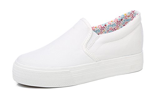 White Canvas Trendy Sneakers On Shoes Womens Slip Loafers Aisun w7f84q7