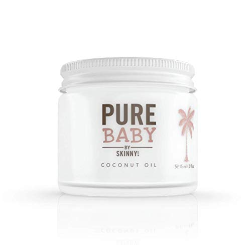 SKINNY and CO. Pure Baby - 100% Pure Coconut Oil with No Additives or Chemicals for Multiple Baby Needs 2 oz. (Best Coconut Oil Brand For Baby)