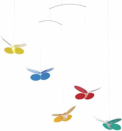 Flensted Mobiles Butterflies Hanging Nursery Mobile - 26 Inches Plastic (Butterfly Hanging Nursery)