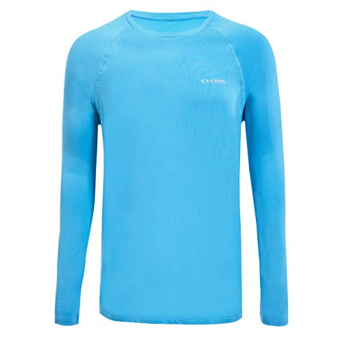 Performance Sunblock - XIHUII Men's UPF 50+ UV Long Sleeve Shirt Sun Protection Vented Outdoor Performance Quick Dry (Blue, M)