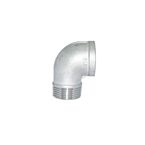 5 in a Pack Stainless Steel SS316 Material 1 NPT Male x 1 NPT Female 90 Degree Street Elbow Class 150# Low Pressure Fitting
