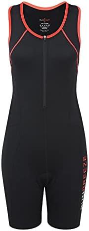 RunBreeze Women's Triathlon Suit | Breathable, Quick-Drying Tri Suit with Dual Rear Poc