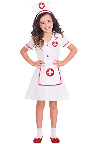 Amscan Girls Darling Nurse Costume, Large