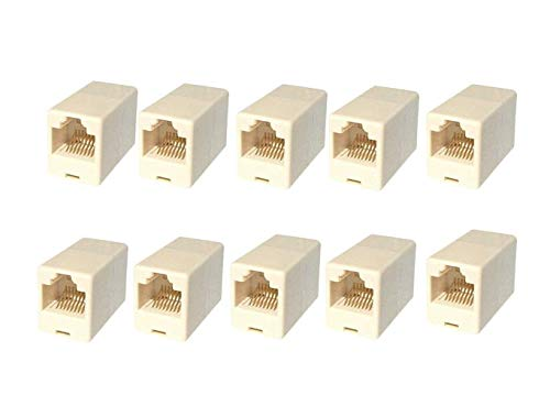 CAPSLOCK RJ45 8P8C CAT5, CAT5E, CAT6 Female to Female LAN Network Cable Connector  Pack of 10