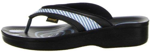 Aerosoft Damen Badeschuhe Zehentrenner blau Blau