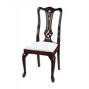 Amazing Georgian Reproduction Queen Anne Dining Chairs Pair Dailytribune Chair Design For Home Dailytribuneorg