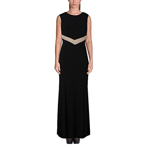 Black Dress Betsy Evening Trim Adam Womens Out Cut Nude amp; Sheer qPwaz81qB