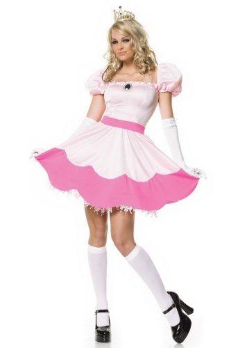 Princess Peach Halloween Costumes (Leg Avenue Women's Pink Princess Costume, Pink, Large)