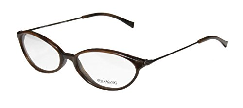 Vera Wang V11 Womens/Ladies Prescription Ready Hip & Chic Designer Full-rim Eyeglasses/Eyeglass Frame (49-16-135, Brown)