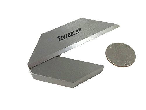 Taytools 469508 1-1/2'' Machinist Center Finder Square Tools Steel with Tapered Pinned Joint Overall Length 3-1/4'' by Taytools