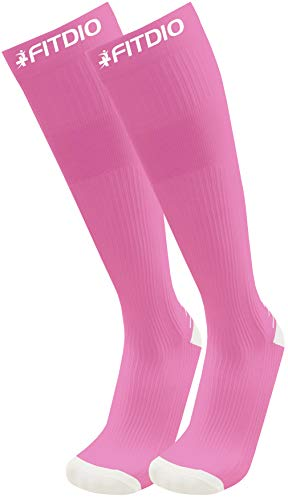 Wide Calf Plus Size Knee High 15-20mmHG Sports Compression Socks Size For Men & Women (12 Colors)