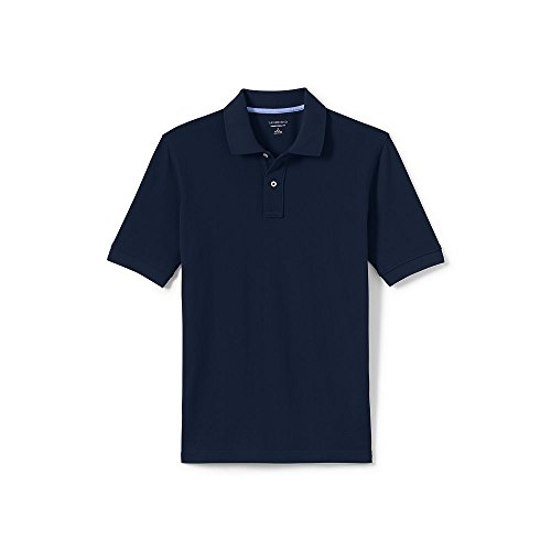 Lands' End 4183908 Men's Big & Tall and Tall Mesh Short Sleeve Polo Shirt, 4XLT, Classic Navy (Blue Classic Mesh Polo)