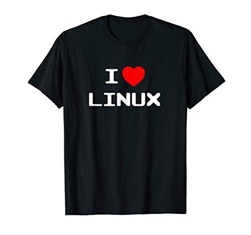 I Love Linux T-Shirt Nerd Geek Sysadmin Gift Men Women Kids