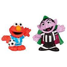 SESAME STREET PLAYSKOOL Soccer Friends Count Von Count & Elmo (Count Sesame Street)