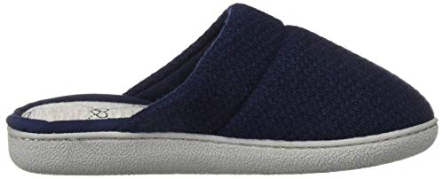 Dearfoams Women's Textured Knit Closed Toe Scuff Slipper, Peacoat, M Regular US by Dearfoams (Image #6)
