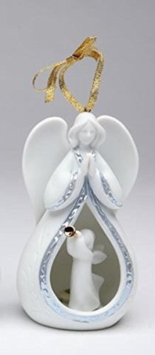 (4.5 Inch Praying Angel with Angel Playing Trumpet Center Ornament)