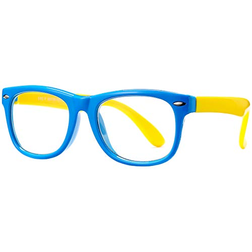 Pro Acme Blue Light Blocking Glasses for Kids Boys Girls Unbreakable Frame Computer Glasses