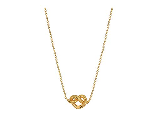 Kate Spade New York Women's Loves Me Knot Mini Pendant Necklace, Gold, One Size (Knots Of Love Heart Necklace)