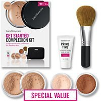bareMinerals Get Started Complexion 7 Piece Kit, Light (Bare Mineral Get Started Kit)