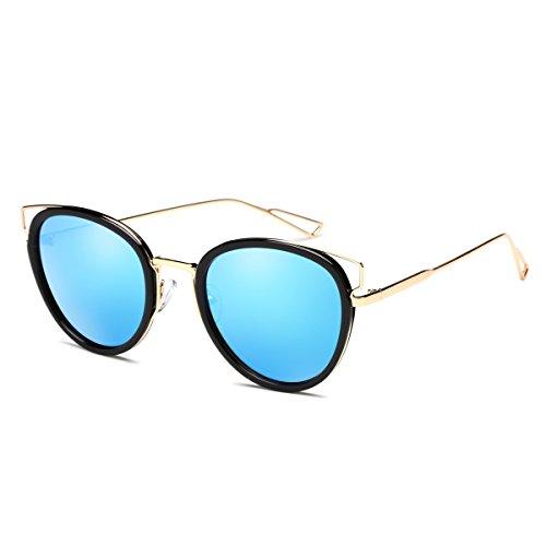 Lunettes de Mode Tendance Lunettes de Soleil , Ice Blue / Gold