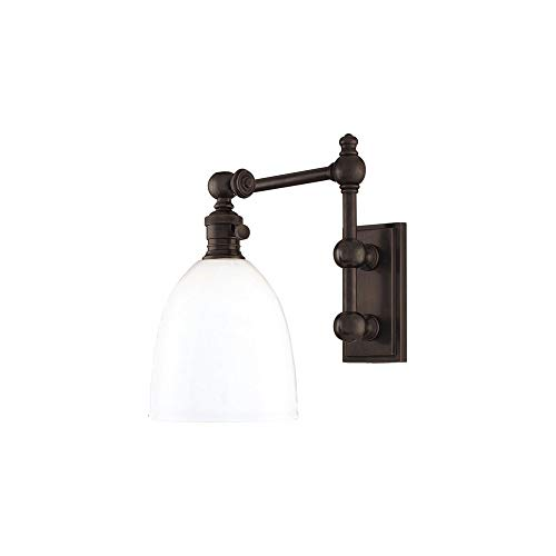Monroe Swing Arm Wall Lamp Finish: Old Bronze ()