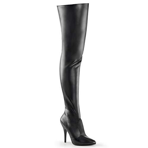 Pleaser Women's Seduce-3010 Thigh High Boot,Black PU,15 M US