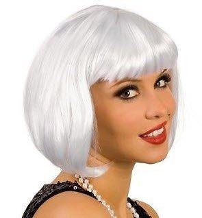 CABARET Bob peluca de pelo lacio disfraces de carnaval de Nochevieja Charleston traje corto gris de pelo corto: Amazon.es: Juguetes y juegos