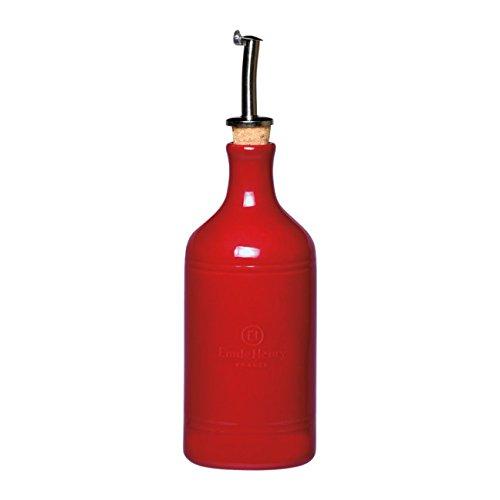 Emile Henry Made In France Oil Bottle/Oil Cruet, Burgundy Red 340215
