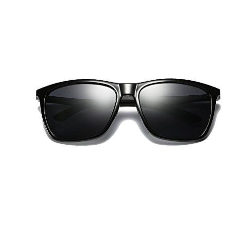 Frame Mg UV Polarizado Super Marco Black Hombre Gafas de BE003 sol Protección BLEVET Metal Ligero Al Lens Gray Mujer axwnB