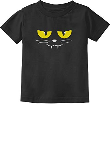Easy Cat Faces Halloween (Halloween Evil Cat Face Easy Costume Cute Toddler/Infant Kids T-Shirt 4T)