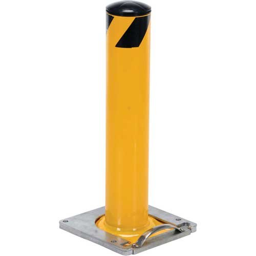 Removable Steel Bollard With Removable Rubber Cap 24