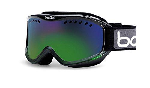 Bolle Carve Goggles, Black Green Fade, Green Emerald Lens