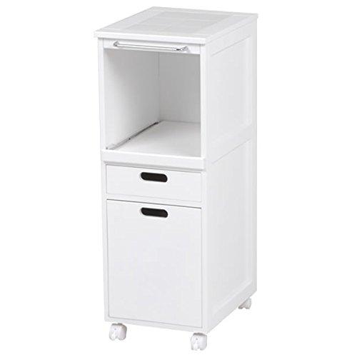 キッチンワゴン ホワイト 幅31×奥行42×高さ85cm MW-6709WH B00U9Y3JB4