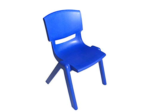 Amazonbasics 12 Inch School Classroom Stack Resin Chair, Blue, 6-Pack
