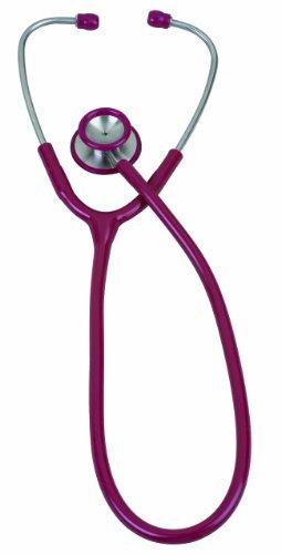 (Veridian 05-10504 Pinnacle Series Stainless Steel Adult Stethoscope, Burgundy)