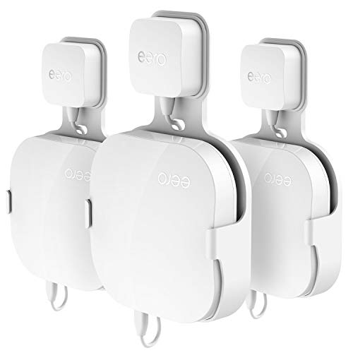 Wall Mount Holder for eero Home WiFi, Simple Designed Accessories Bracket Stand for eero Pro WiFi System Router- No Messy Screws! (3 Pack)