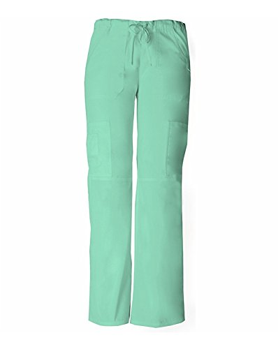 Jr Shell (Dickies 85100 Women's Jr Fit Low-Rise Cargo Pant Mint Shell Large)
