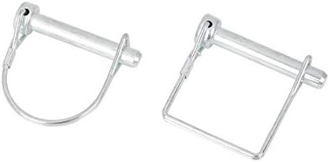 X AUTOHAUX 10pcs 70mm Length 6mm Diameter D Shape Square Shape Trailer Shaft Locking Coupler Pin for Car Boat