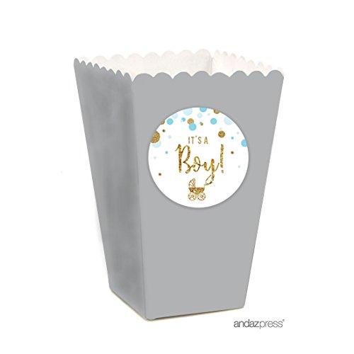 baby blue popcorn box - 1